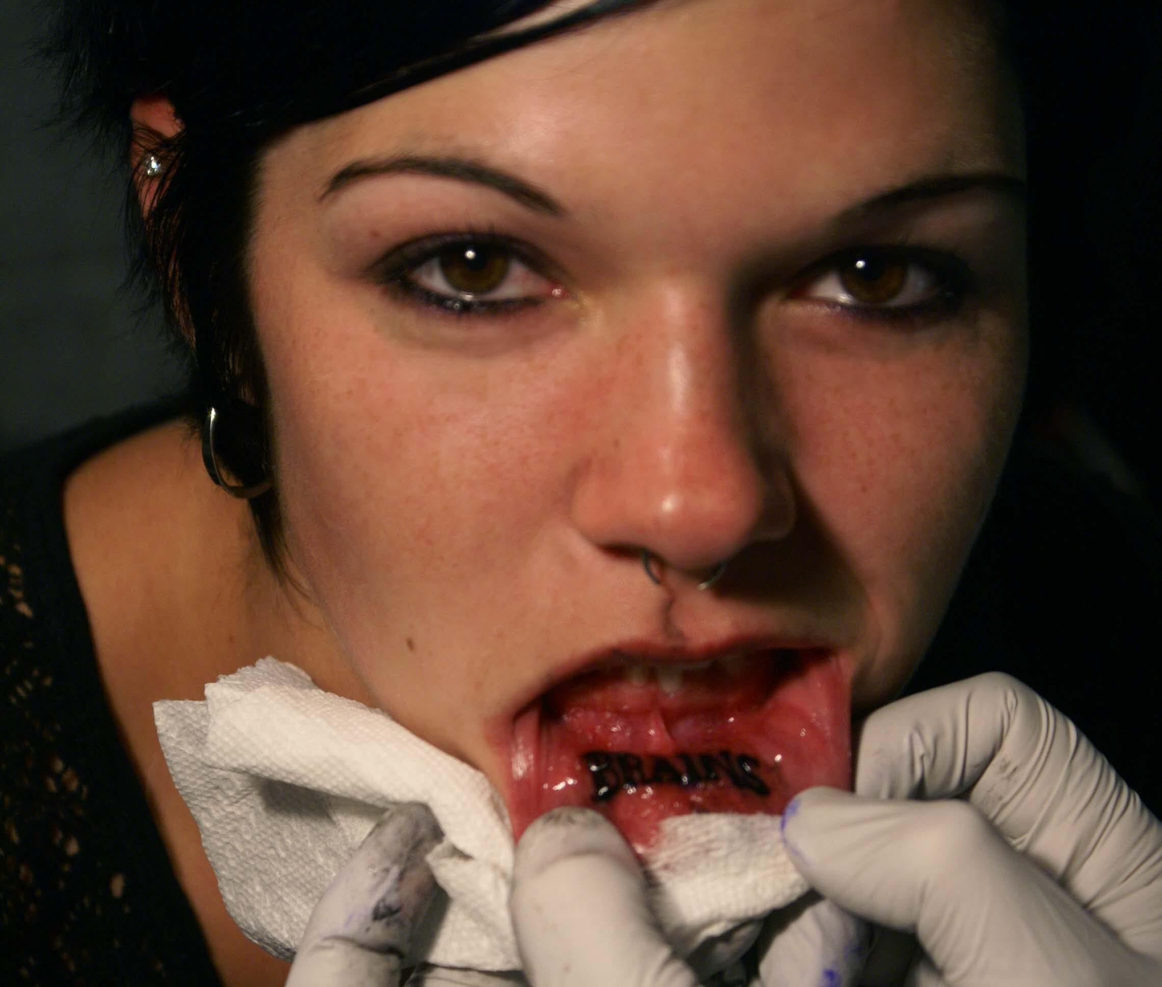 inner lip tattoo. inner lip tattoo, lip,