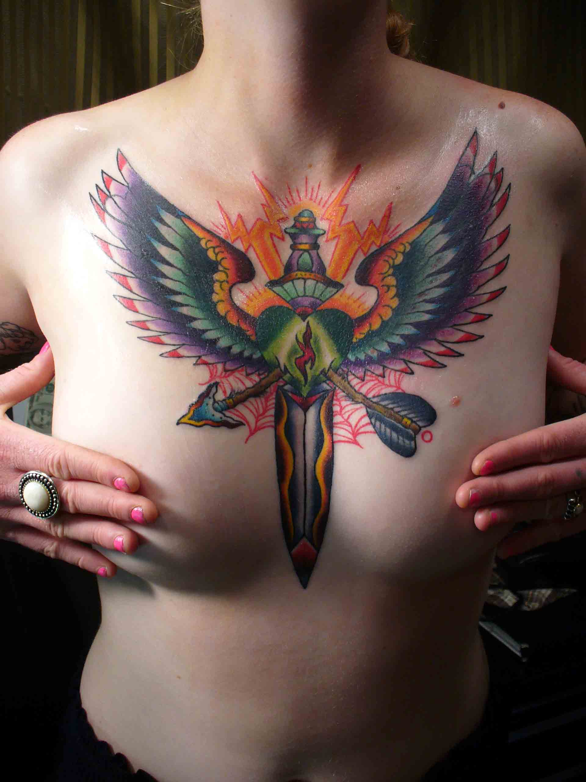 COUNTRY TATTOO: Chest Tattoo
