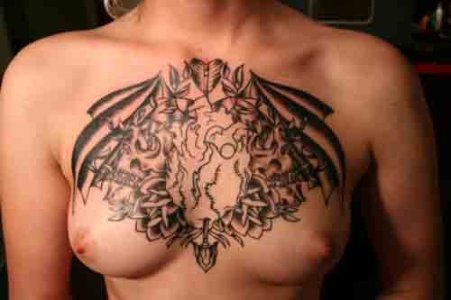 chest tat Chest Tattoo by Tom Landon