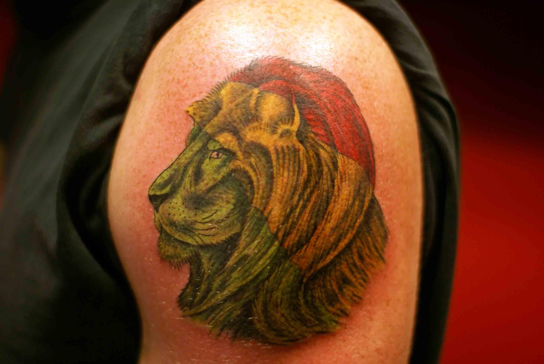 rasta lion of judah tattoo the image kid has it. Black Bedroom Furniture Sets. Home Design Ideas