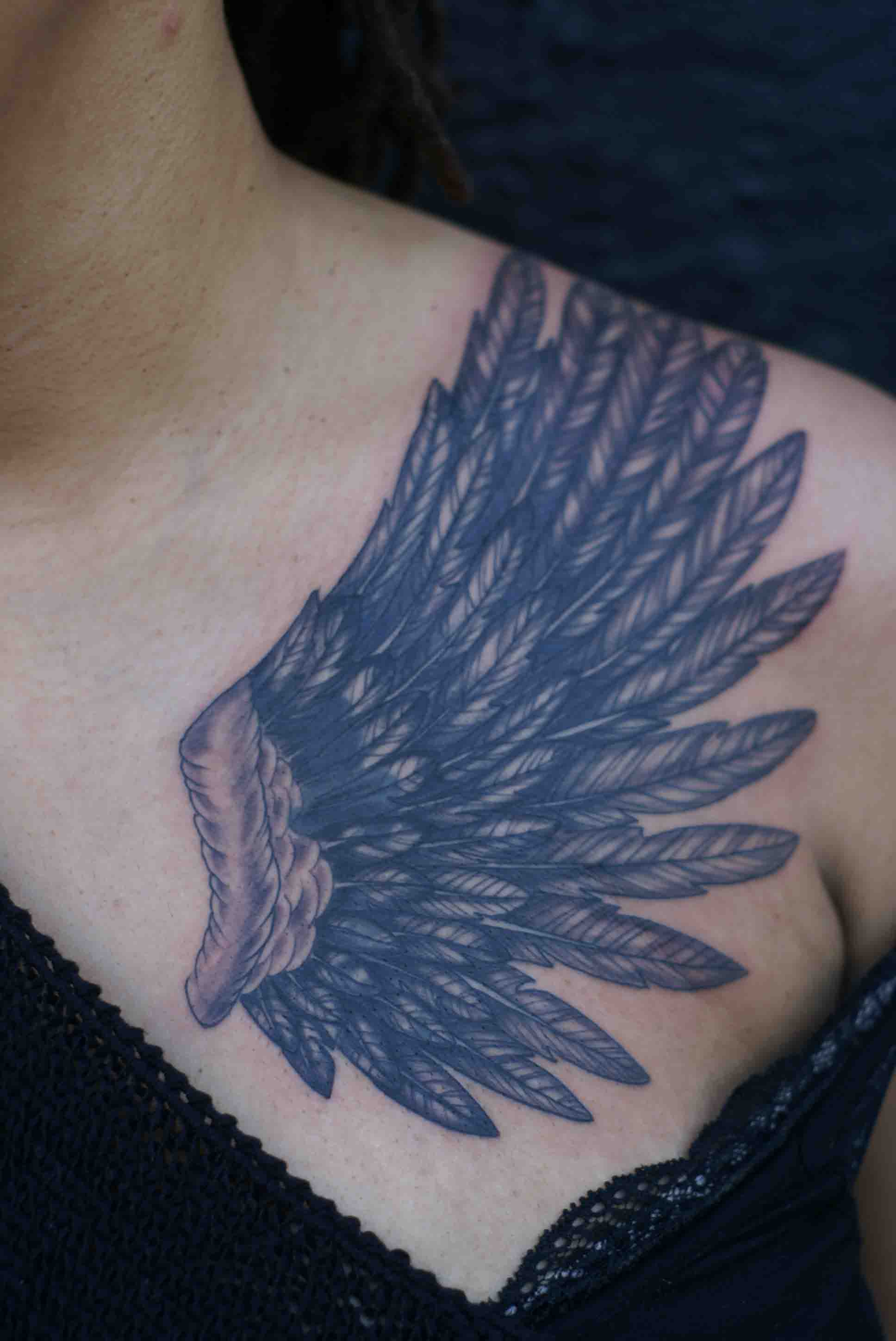 Wing Tattoo (Cover Up)