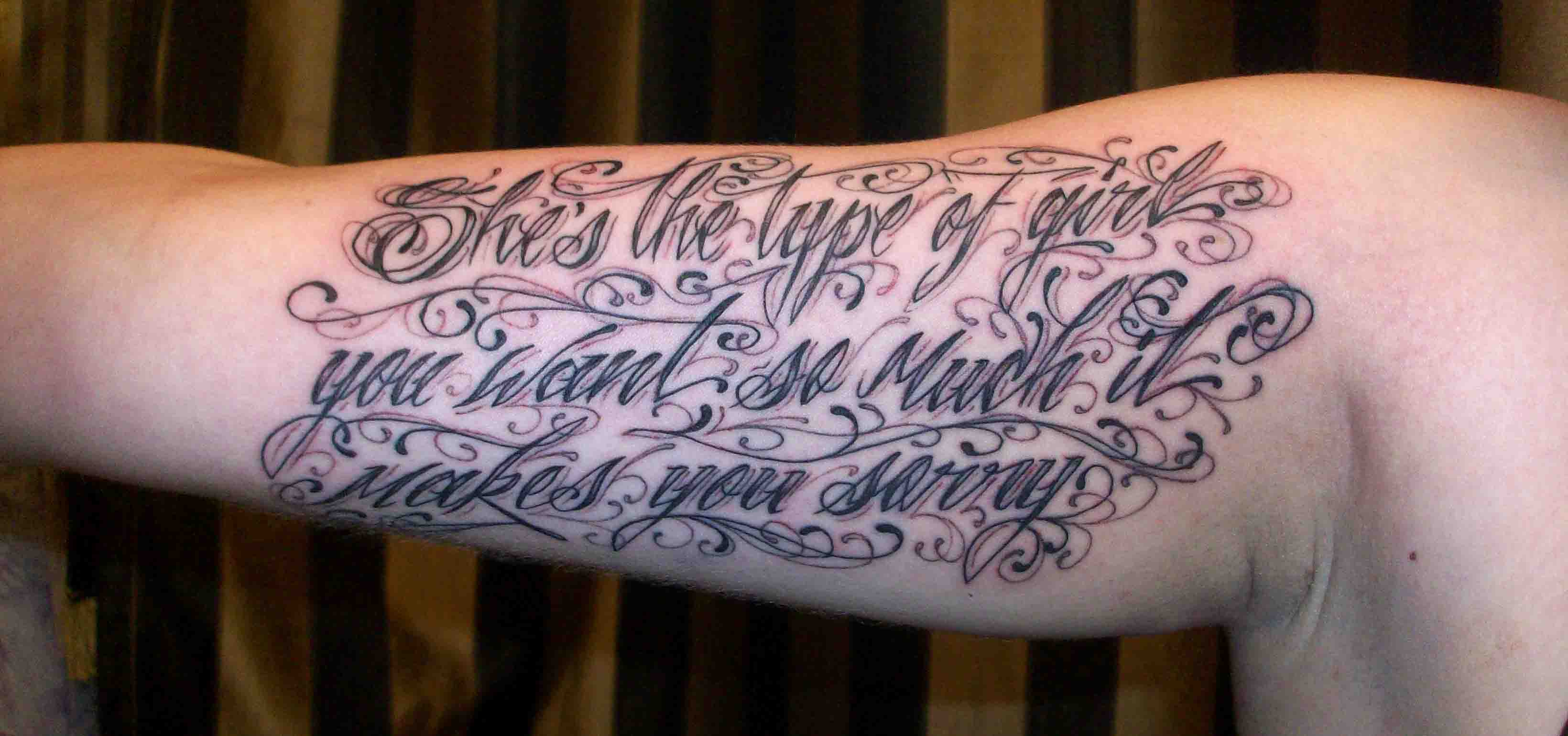 Jose Script Lettering Tattoos